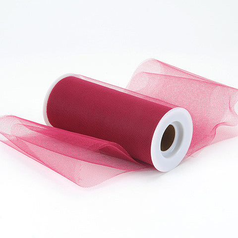 Burgundy Premium Tulle Fabric ( 6 inch | 25 Yards ) -