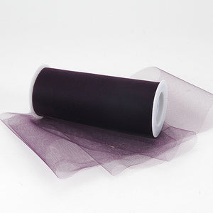Plum Premium Tulle Fabric ( 6 inch | 25 Yards ) -
