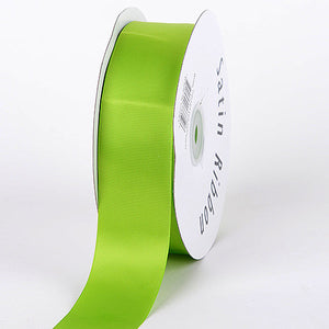 Satin Ribbon Single Face Apple Green ( W: 3/8 inch | L: 100 Yards ) -