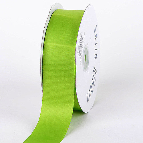 Satin Ribbon Single Face Apple Green ( 1/4 inch | 100 Yards )