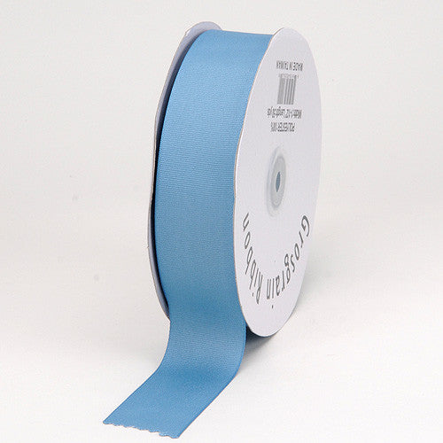 Grosgrain Ribbon Solid Color Antique Blue ( W: 7/8 inch | L: 50 Yards ) -