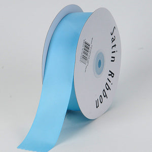 Satin Ribbon Single Face Light Blue ( W: 3/8 inch | L: 100 Yards ) -