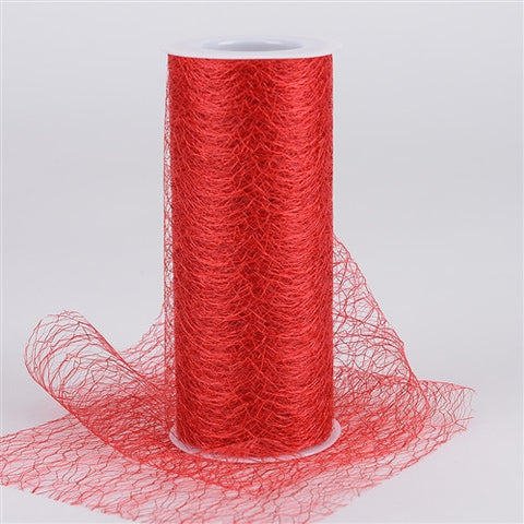 Sisal Mesh Wrap Rolls Red ( 6 x 10 Yards ) -