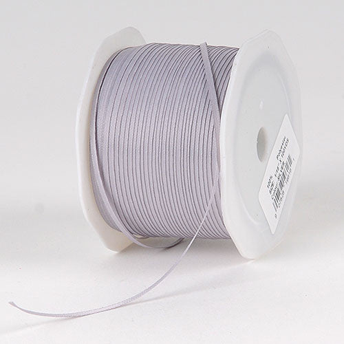 Satin Ribbon 1/16 x 100 Yards Silver ( W: 1/16 inch | L: 100 Yards )