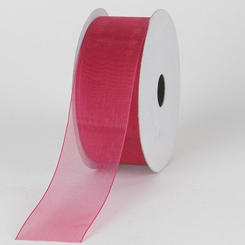 Sheer Organza Ribbon Azalea ( W: 3/8 inch | L: 25 Yards ) -