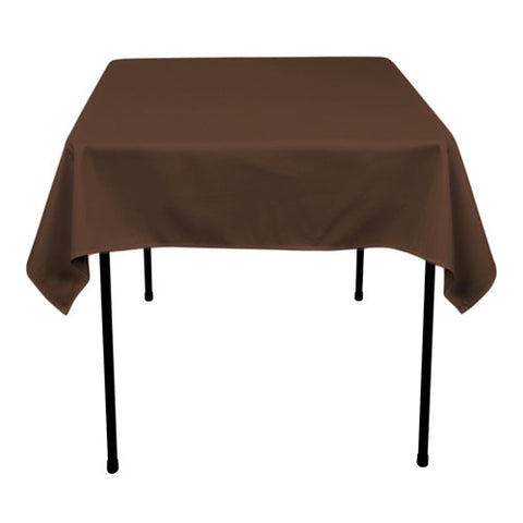 Chocolate  70 x 70 Square Tablecloths  ( 70 inch x 70 inch )- Ribbons Cheap