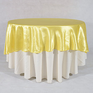 Daffodil  108 Inch Satin Round Tablecloths  ( 108 inch | Round )- Ribbons Cheap