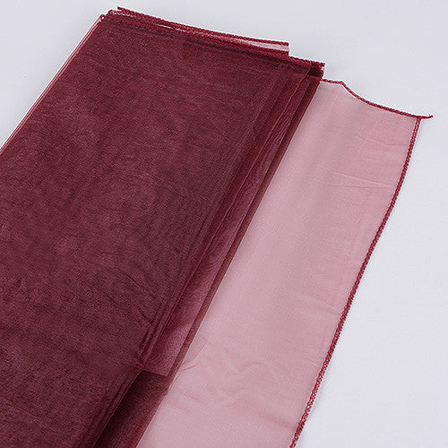 Wedding Organza Fabric Decor Burgundy ( W: 28 inch | L: 216 Inches ) -