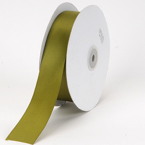 Satin Ribbon Single Face Spring Moss ( W: 3/8 inch | L: 100 Yards )