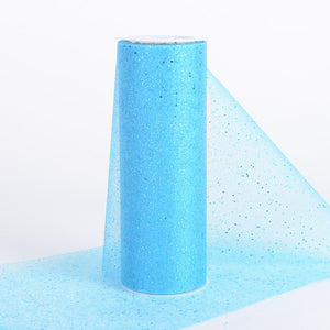 6 Inch Confetti Organza Roll Turquoise ( W: 6 inch | L: 10 yards ) - Ribbons Cheap