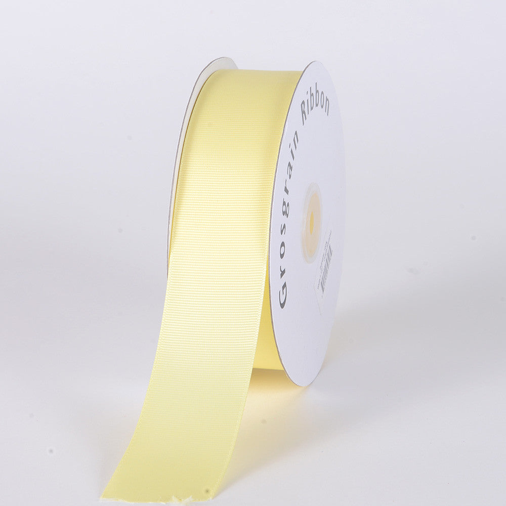 Grosgrain Ribbon Solid Color Baby Maize ( W: 3/8 inch | L: 50 Yards ) -