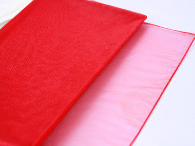 Wedding Organza Fabric Decor Red ( W: 58 inch | L: 216 Inches ) -