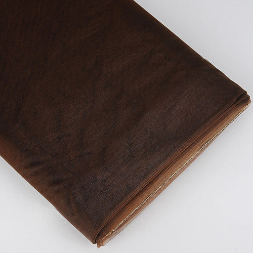 Organza Fabric Bolt (25 Yards) Chocolate Brown