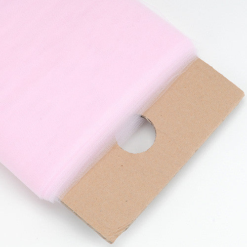 Pink Premium Glimmer Tulle Fabric ( W: 6 inch | L: 25 Yards ) -