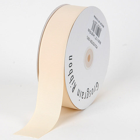 Grosgrain Ribbon Solid Color Ivory ( W: 5/8 inch | L: 50 Yards ) -