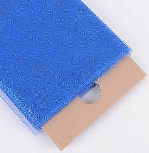 Royal Blue Premium Glitter Tulle Fabric ( W: 6 inch | L: 25 Yards ) -