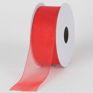 Sheer Organza Ribbon Red ( 1-1/2 inch | 25 Yards ) -