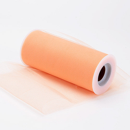 Peach Premium Tulle Fabric ( 6 inch | 25 Yards ) -