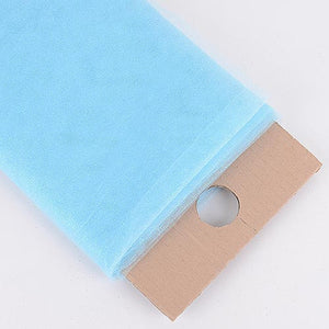 Light Blue Premium Glitter Tulle Fabric ( W: 6 inch | L: 25 Yards ) -