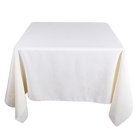 Ivory  85 x 85 Square Tablecloths  ( 85 Inch x 85 Inch )- Ribbons Cheap