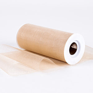 Organza Fabric 6 inch Toffee ( W: 6 inch | L: 25 Yards ) -