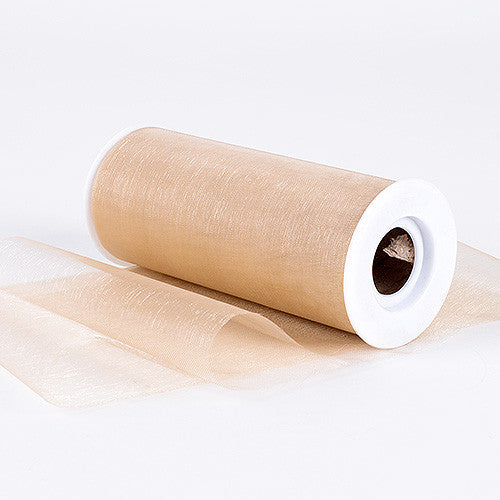 Organza Fabric 6 inch Toffee ( W: 6 inch | L: 25 Yards )