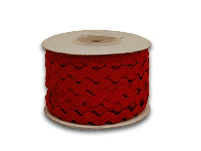 Ric Rac Trim Red ( 7mm - 25 Yards ) -