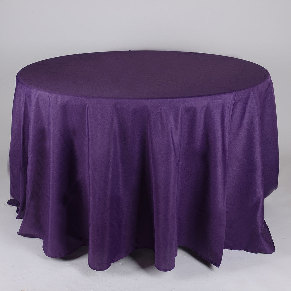 Plum 90 Inch Round Tablecloths  ( W: 90 Inch | Round )- Ribbons Cheap