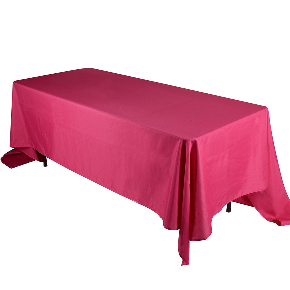 Fuchsia 90 x 132 Rectangle Tablecloths  ( 90 inch x 132 inch )- Ribbons Cheap