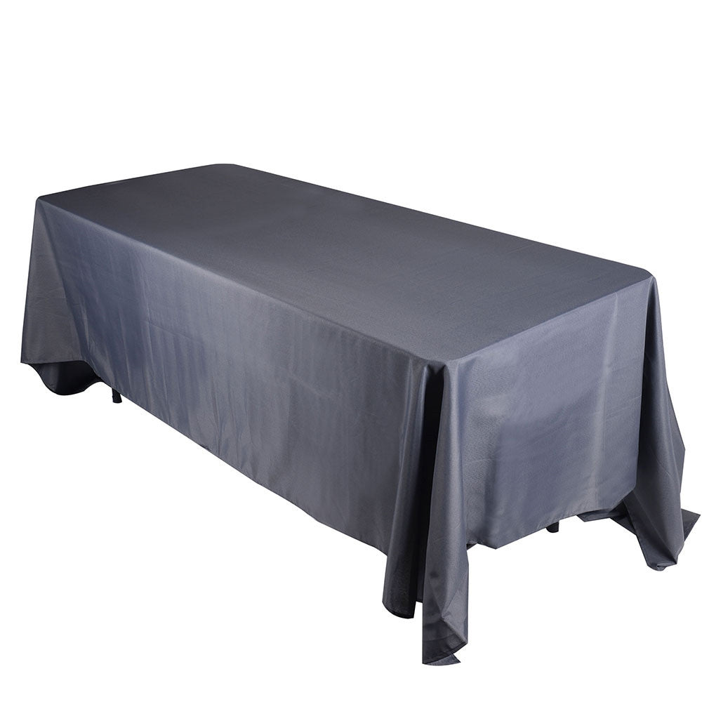 Charcoal  90 x 132 Rectangle Tablecloths  ( 90 inch x 132 inch )- Ribbons Cheap