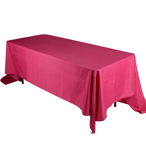 Fuchsia 90 x 156 Rectangle Tablecloths  ( 90 inch x 156 inch )- Ribbons Cheap