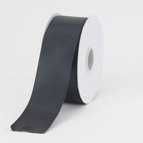 Satin Ribbon Wire Edge Black ( W: 1-1/2 inch | L: 25 Yards ) -