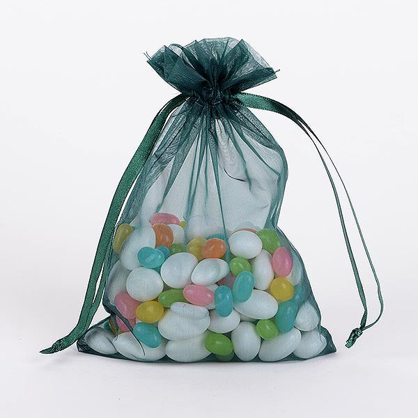 Organza Bags Hunter Green ( 8x14 Inch - 10 Bags ) -