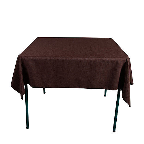 Chocolate  52 x 52 Square Tablecloths  ( 52 Inch x 52 Inch )- Ribbons Cheap