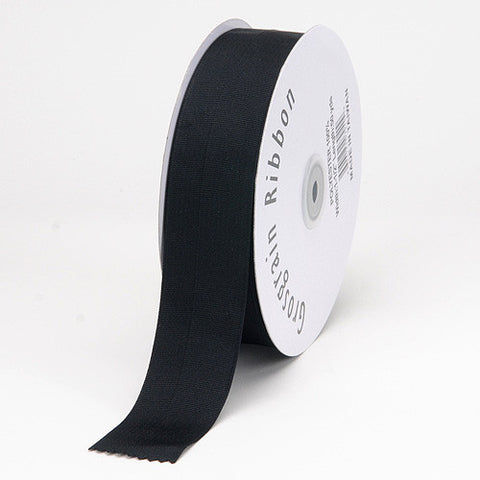 Grosgrain Ribbon Matte Finish Black ( 1/4 inch | 50 Yards ) -