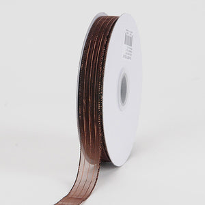 Corsage Ribbon Chocolate Brown ( W: 3/8 inch | L: 50 Yards ) -