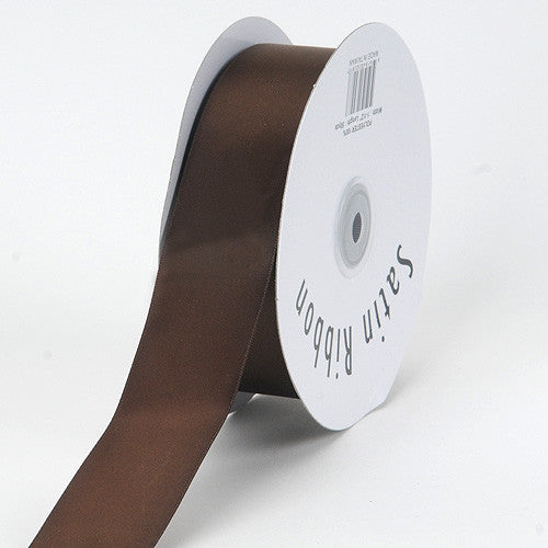 Satin Ribbon Single Face Chocolate Brown ( 1-1/2 inch | 50 Yards )