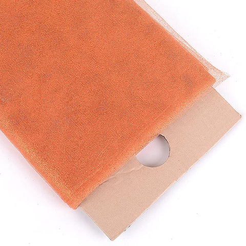 Orange Premium Glitter Tulle Fabric ( W: 6 inch | L: 25 Yards ) -