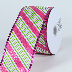 Christmas Ribbon Candy Cane ( 2-1/2 Inch x 10 Yards ) -