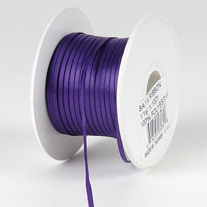 Satin Ribbon 1/16 x 100 Yards Purple ( W: 1/16 inch | L: 100 Yards ) -