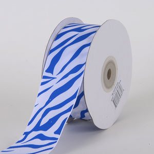Grosgrain Ribbon Animal Print Royal Blue ( 1-1/2 inch | 25 Yards ) -