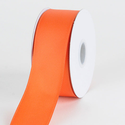 Satin Ribbon Wire Edge Orange ( W: 1-1/2 inch | L: 25 Yards ) -