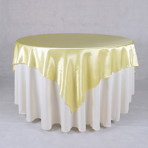 Baby Maize  60 x 60 Satin Table Overlays  ( 60 x 60 Inch )- Ribbons Cheap