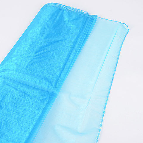 Wedding Organza Fabric Decor Turquoise ( W: 28 inch | L: 216 Inches ) -