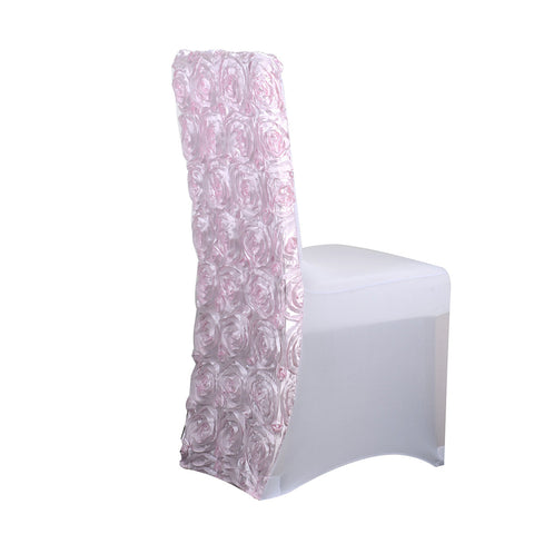 Light Pink - Rosette Spandex Chair Cover