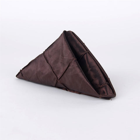 17 X 17 Pintuck Satin Napkins - Pack Of 5 (Chocolate Brown)