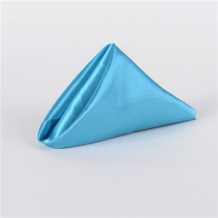 20 inch x 20 Inch Satin Napkins - Pack of 5 (Turquoise)