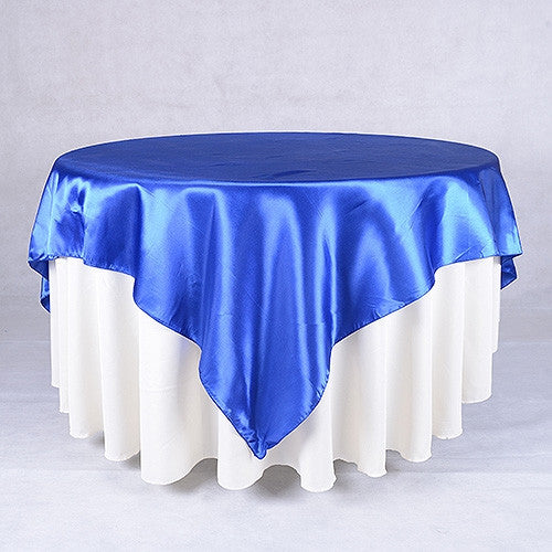 Royal  90 x 90 Satin Table Overlays  ( 90 Inch x 90 Inch )- Ribbons Cheap