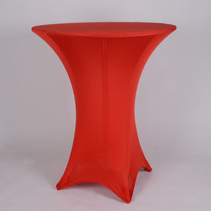 Red Spandex Cocktail Tablecloths- Ribbons Cheap
