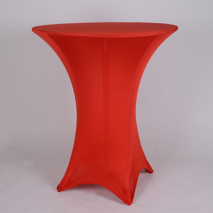Red Spandex Cocktail Tablecloths